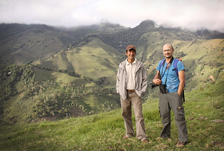 Miguel Jaramillo tillsammans med Cesar Antonio Franco som är ordförande i organisationen Serraniagua.